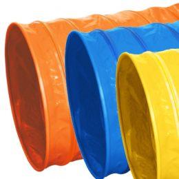 orange-blå-gul tunnel