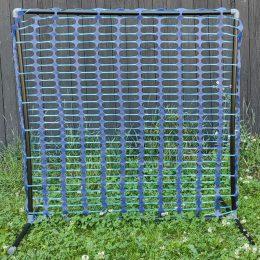 blått staket